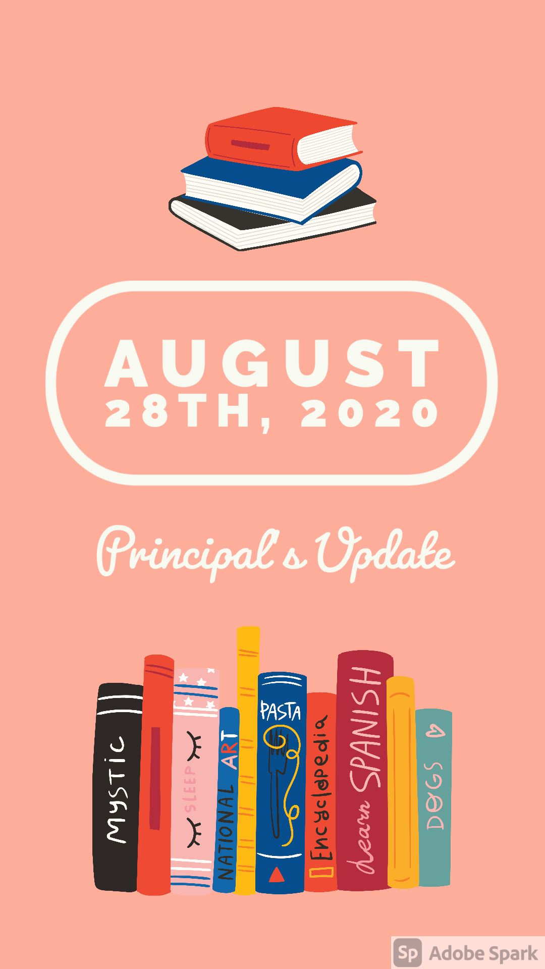 Principal's Update - August, 28th 2020