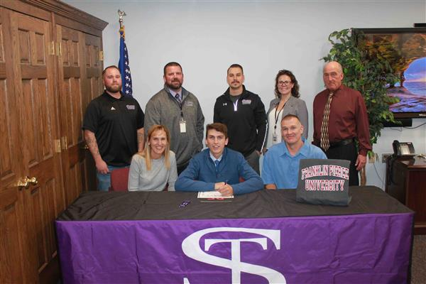 Rooney signs National Letter of Intent to continue his education and athletic career at Franklin Pierce University