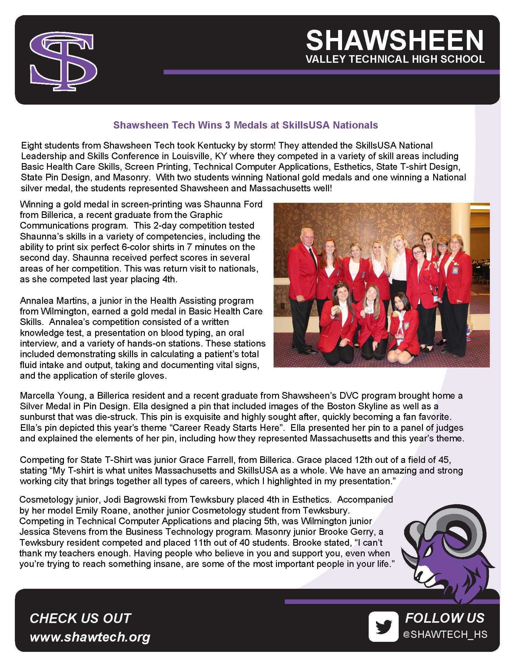 Shawsheen Valley Technical High School / Homepage